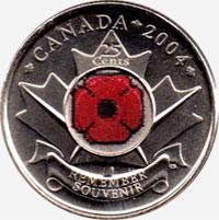 25 cents 2004 - Poppy