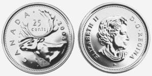 25 cents 2005 - Caribou - P