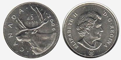 25 cents 2006 - RCM Logo