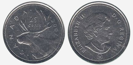 25 cents 2007 - RCM Logo