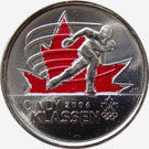25 cents 2009 - Cindy Klassen - Red
