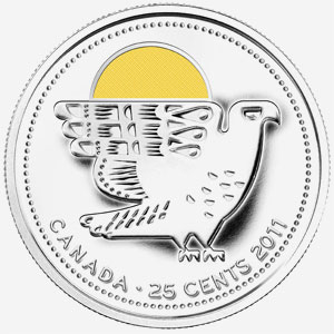 25 cents 2011 - Falcon - Yellow