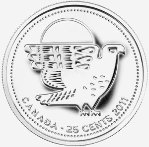 25 cents 2011 - Falcon