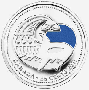25 cents 2011 - Killer whale - Blue