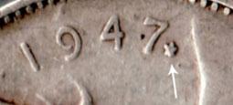 25 cents 1947 - Feuille d'�rable