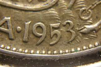 50 cents 1953 - Small date