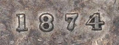 5 cents 1874 - Plain 4