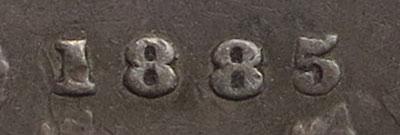 5 cents 1885 - Large 5
