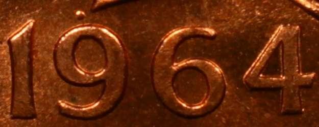 1 cent 1964 - Dot