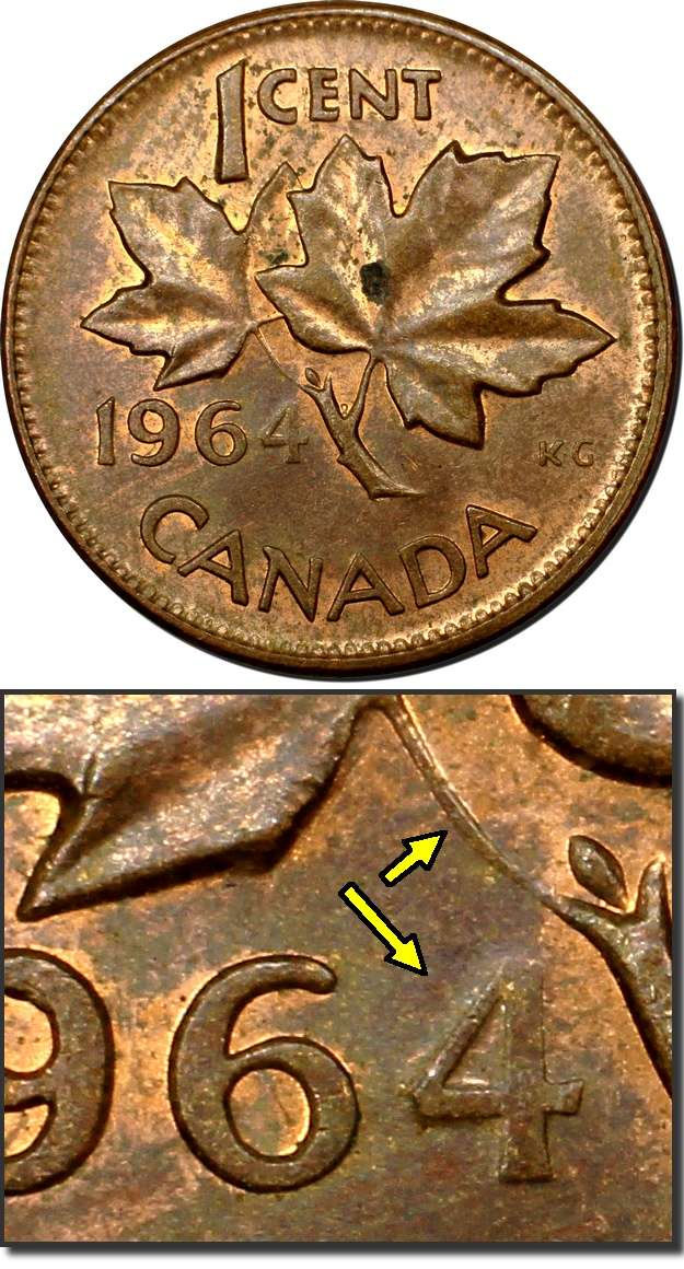 Coins And Canada 1 Cent 1964 Canadian Coins Price Guide Value Errors And Varieties