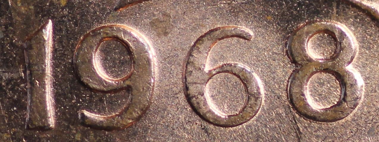 2511 1 Cent 1968