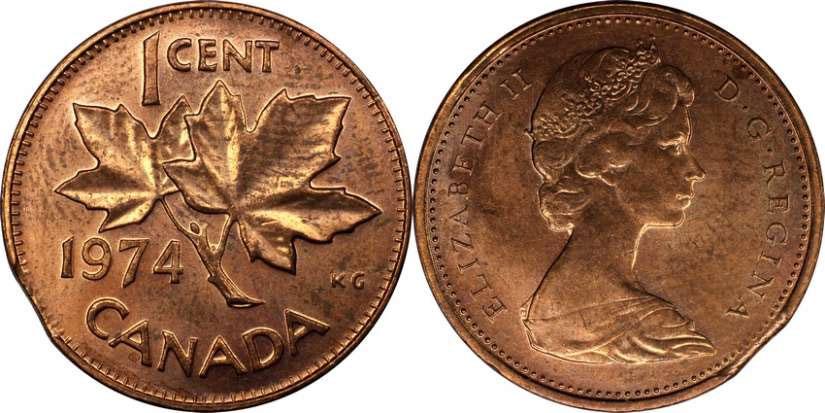 1 цент 1974 года цена искать золото