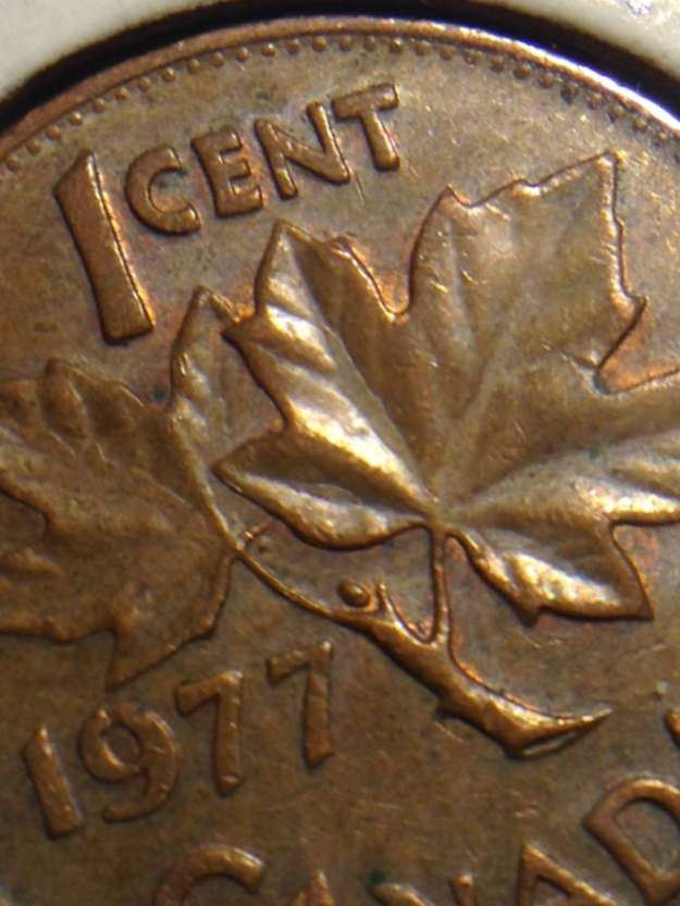 Coins and Canada - 1 cent 1977 - Canadian coins price guide