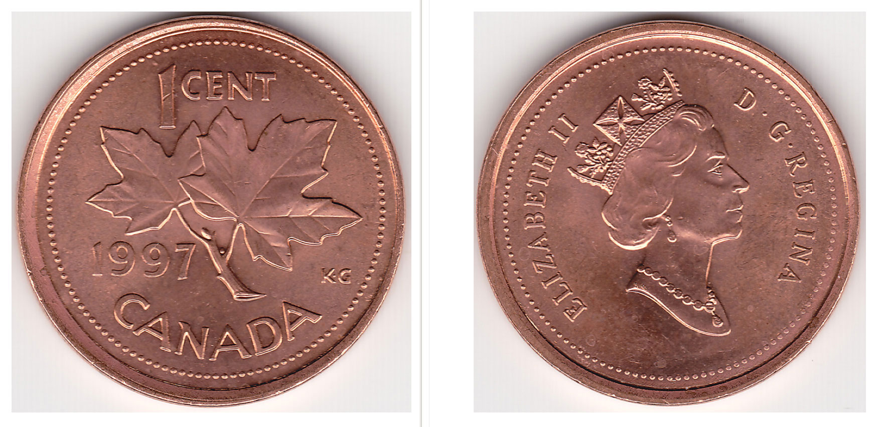 Coins And Canada 1 Cent 1977 Canadian Coins Price Guide And Values