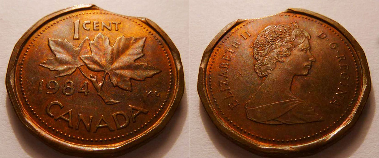 Coins and Canada - 1 cent 1984 - Canadian coins price guide