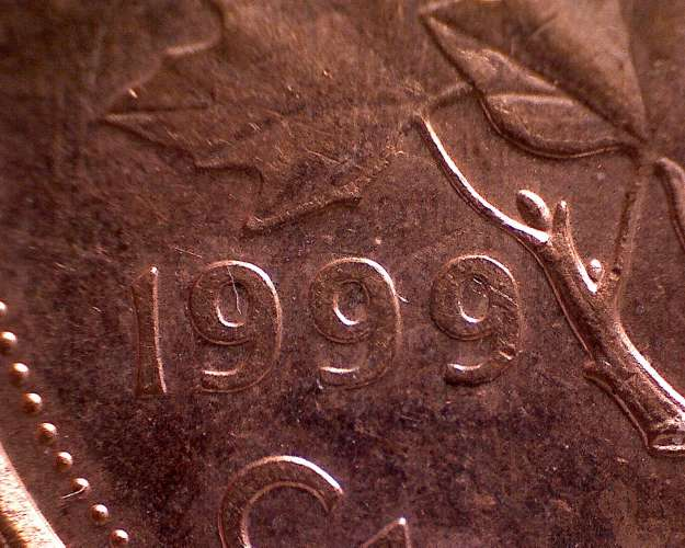 Coins and Canada - 1 cent 1999 - Canadian coins price guide and values