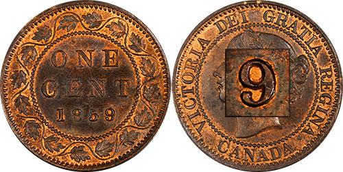 1 cent 1859 - 9 large