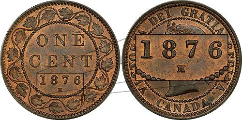 1 cent 1876 - H