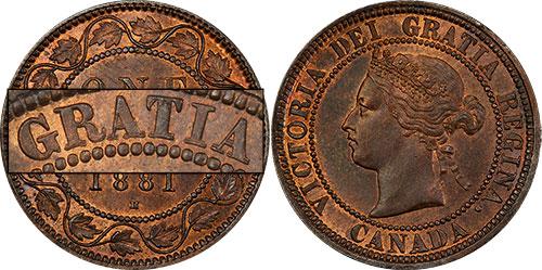 1 cent 1881 - Double légende #1