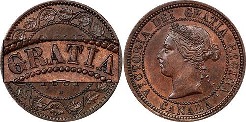 1 cent 1881 - Double légende #2