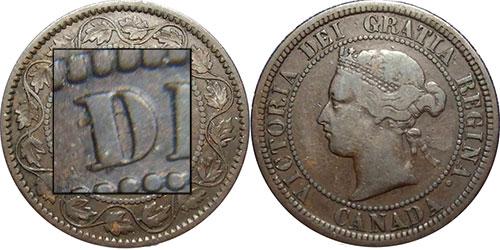 1 cent 1881 - Micro D