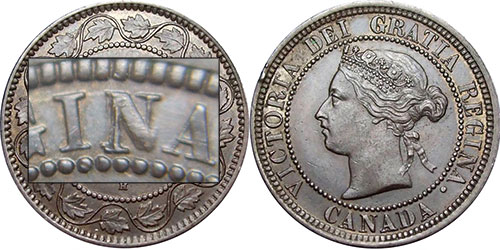 1 cent 1881 - Triple N