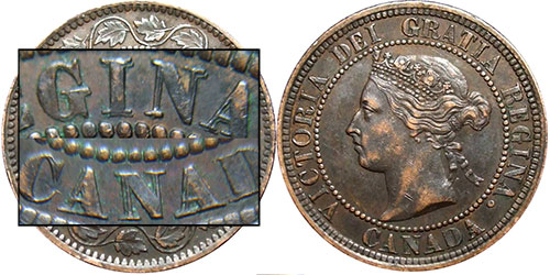 1 cent 1882 - Double légende