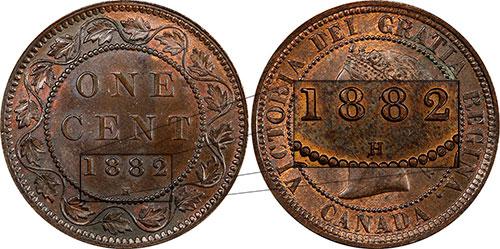 1 cent 1882 - H