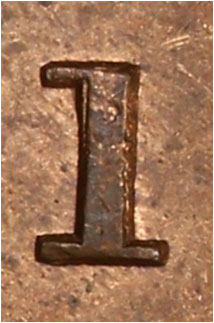 1 cent 1887 - Repunched 1