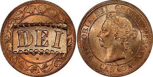 1 cent 1890 - Flying I