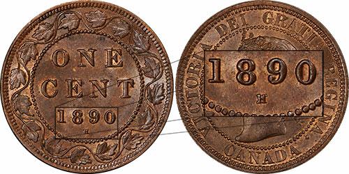 1 cent 1890 - H