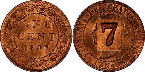 1 cent 1890 - Double 7