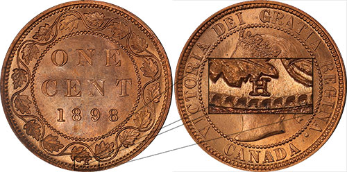 1 cent 1898 - H