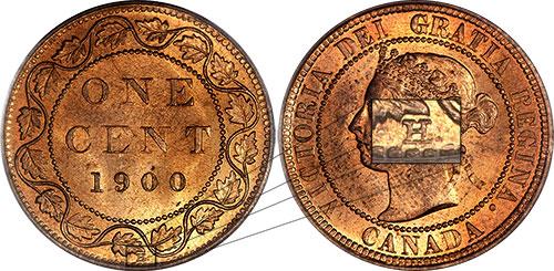 1 cent 1900 - H