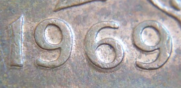 1 cent 1969 - Double 1969