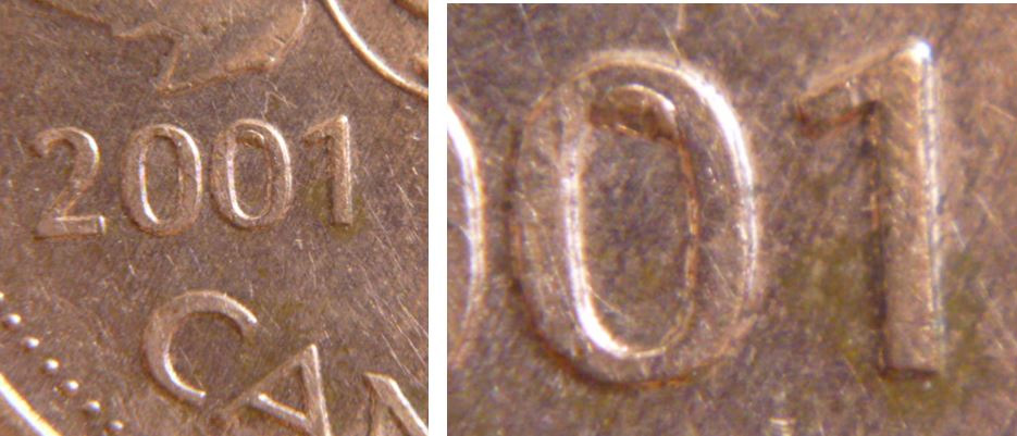 Coins and Canada - 1 cent 2001 - Canadian coins price guide