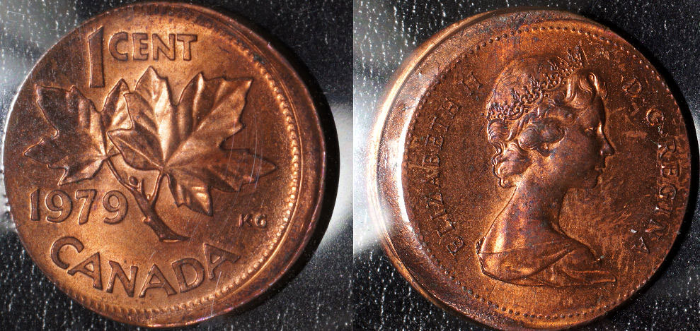 *** 1982 CANADIAN 1 CENT ROLL FROM THIS LOT CIRCULATED ***