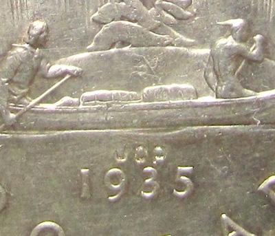 1 dollar 1935 - JOP Counterstamp - Type 1