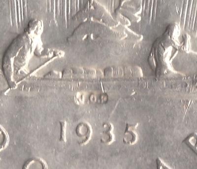 1 dollar 1935 - JOP Counterstamp - Type 3