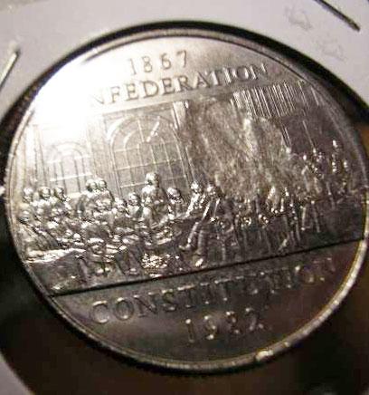 1982 CONSTITUTION CANADA DOLLAR GREAT PRICE! AU//BU