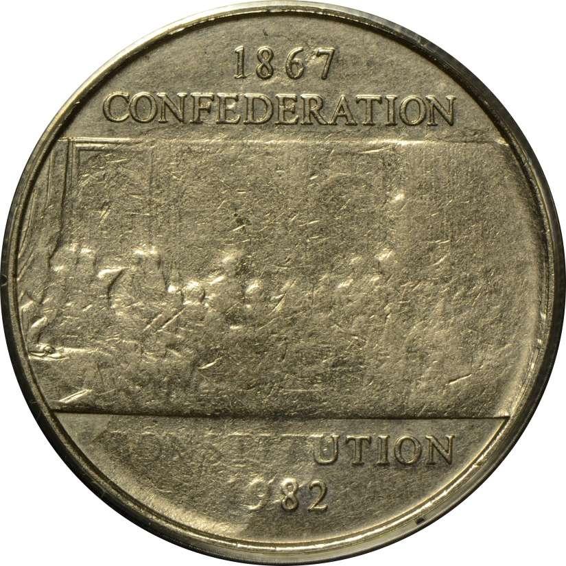 1982 Canada Constitution Proof Commemorative Dollar