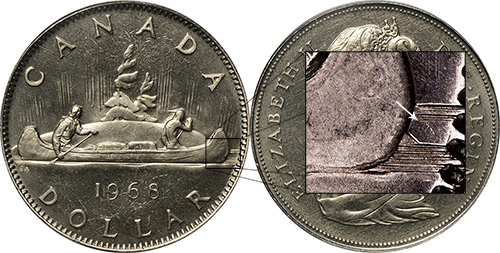 1 dollar 1968 - Double Horizon Line - DHL