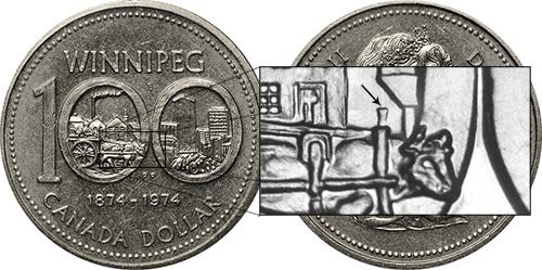 1 dollar 1974 - DDR #2 North Yoke (VCR-1)