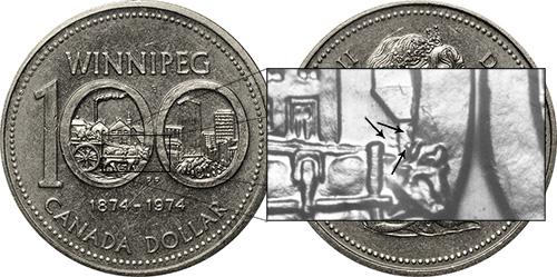 1 dollar 1974 - DDR #11 Edge Elements (VCR-11)