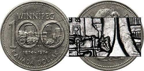 1 dollar 1974 - DDR #14 Curling Shingle (VCR-14)