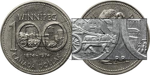 1 dollar 1974 - DDR #16 West Yoke (VCR-16)