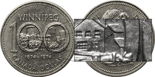 1 dollar 1974 - DDR #18 Receding Roof (VCR-18)