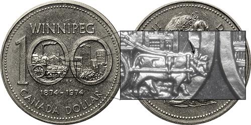 1 dollar 1974 - DDR #3 East Yoke (VCR-3)