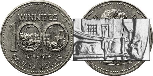 1 dollar 1974 - DDR #4 Small North Yoke (VCR-4)