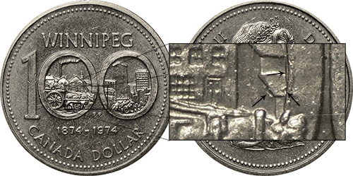 1 dollar 1974 - DDR #7 Loose Shigles (VCR-7)